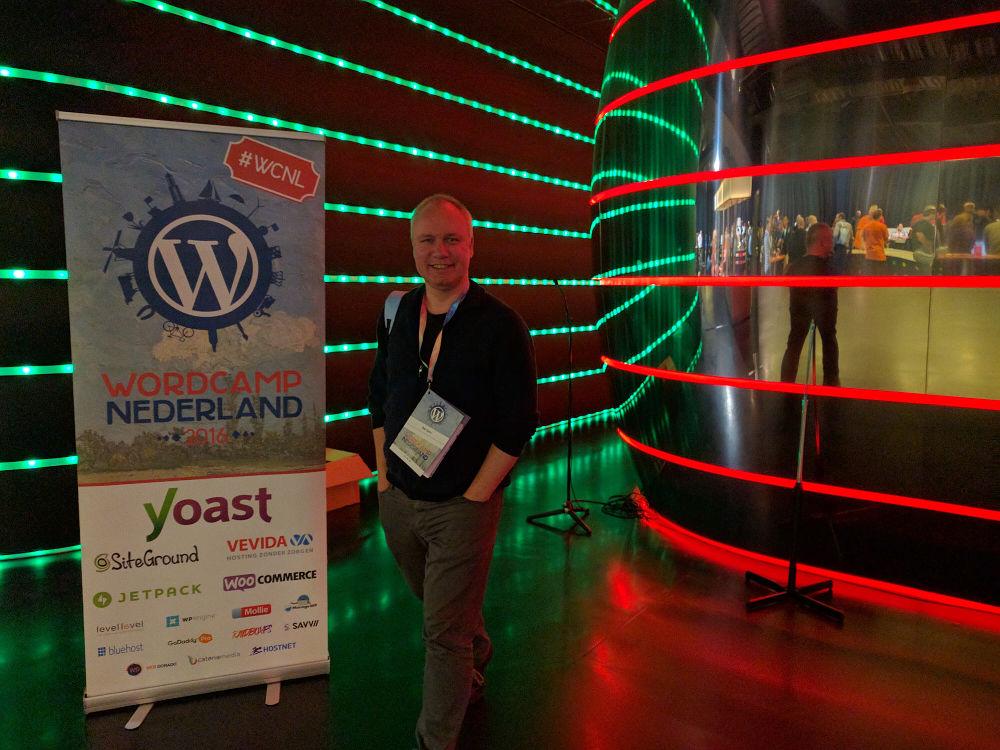 De WordPress specialist Groningen tijdens Wordcamp Nederland in 2016